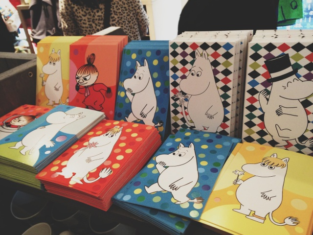 A selection of goodies in the Moomin shop
